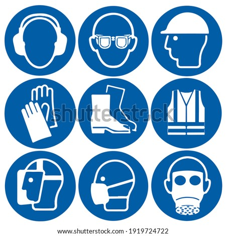 Personal protective equipment Safety Sign Goggles