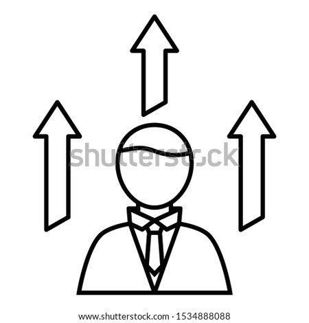 Personal Skill development Concept, Developing strengths or talents Vector Icon design