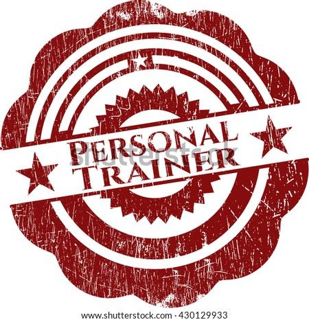 Personal Trainer grunge stamp