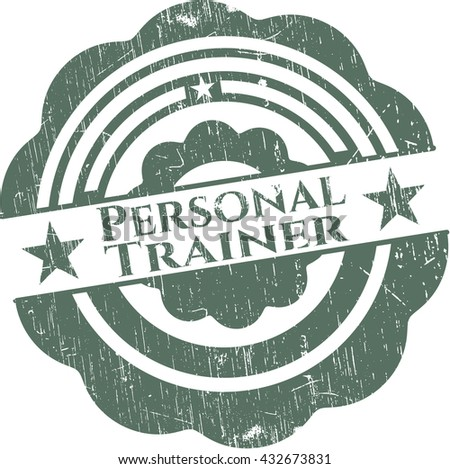 Personal Trainer rubber grunge texture seal