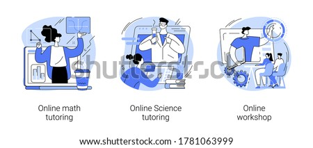 Personalised learning abstract concept vector illustration set. Online math and science tutoring, online workshop, homeschooling, educational platform, video lessons, master class abstract metaphor.