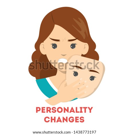 personality changes concept