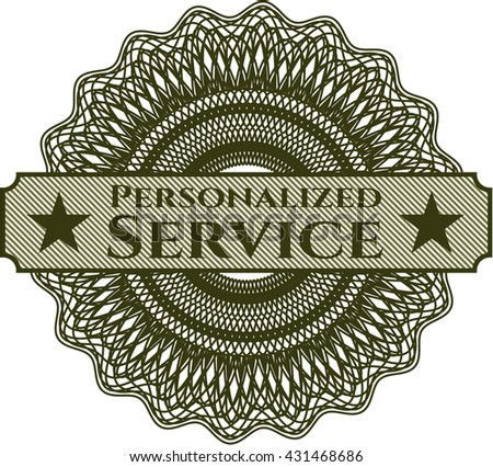 Personalized Service abstract linear rosette