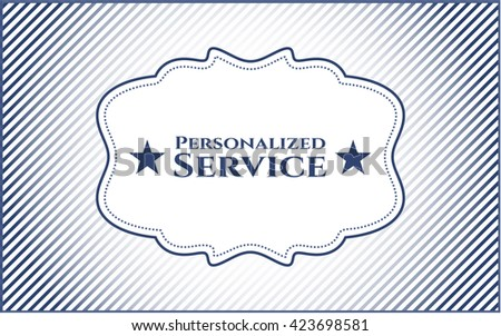 Personalized Service banner or poster