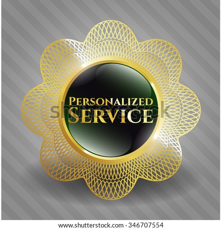 Personalized Service gold badge