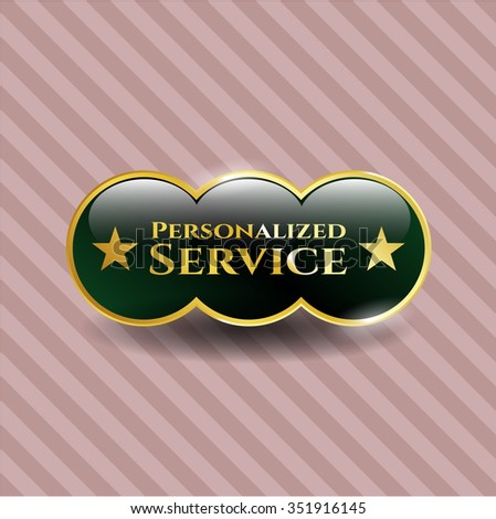 Personalized Service gold emblem