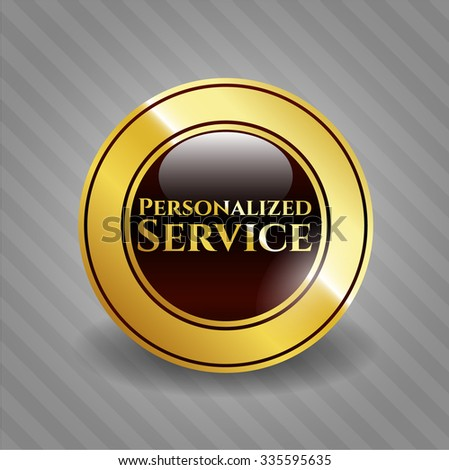 Personalized Service gold shiny emblem