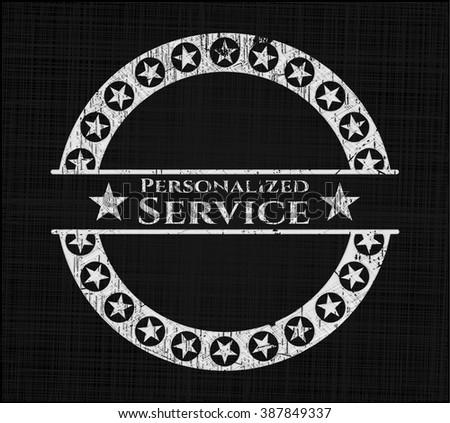 Personalized Service on chalkboard