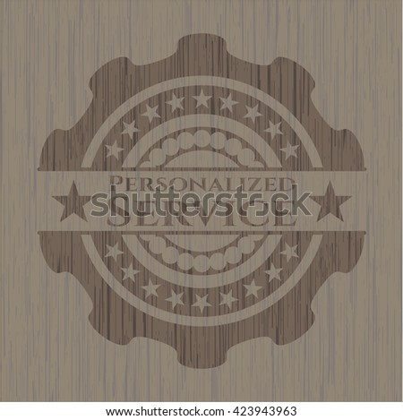 Personalized Service realistic wood emblem