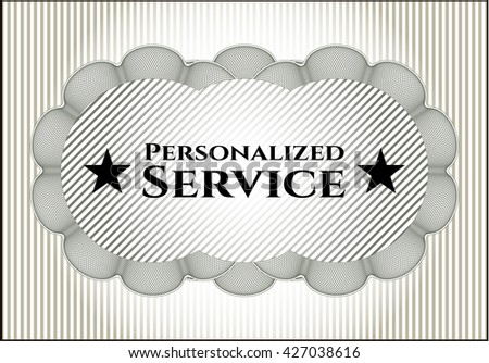 Personalized Service vintage style card or poster
