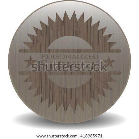 Personalized Service vintage wooden emblem