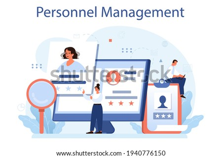 Personnel management concept. Business recruitment and empolyee adaptation Stock photo ©