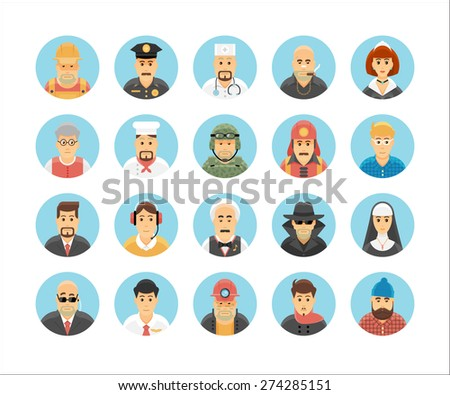 persons icons collection icons