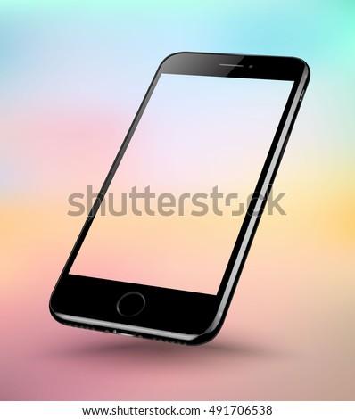 perspective black smartphone