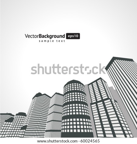 Perspective city vector background