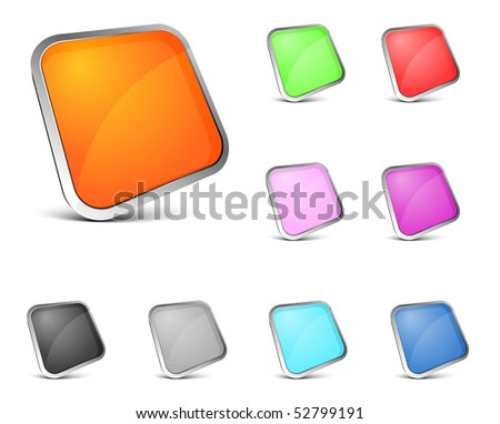 perspective color button on white background