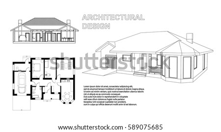 perspective 3d  floor plan and