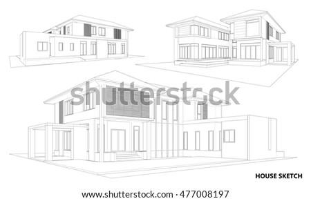 perspective 3d render of