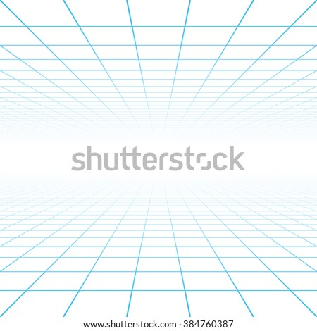 Perspective grid background vector illustration