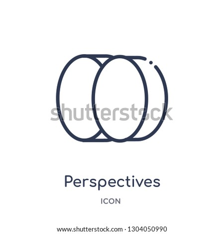 perspectives icon from user interface outline collection. Thin line perspectives icon isolated on white background.