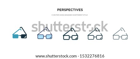 perspectives icon in different style vector illustration. two colored and black perspectives vector icons designed in filled, outline, line and stroke style can be used for web, mobile, ui