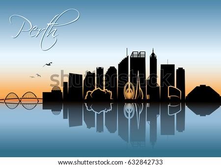 perth skyline   australia