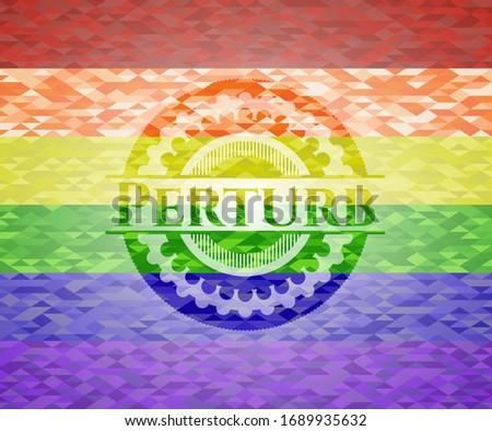 Perturb lgbt colors emblem. Vector Illustration. Mosaic. Photo stock ©