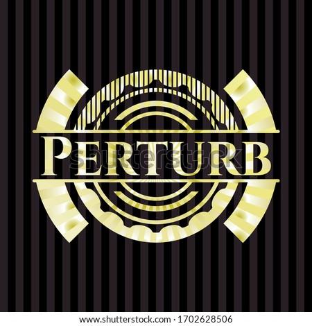 Perturb shiny emblem. Vector Illustration. Detailed.  Photo stock ©