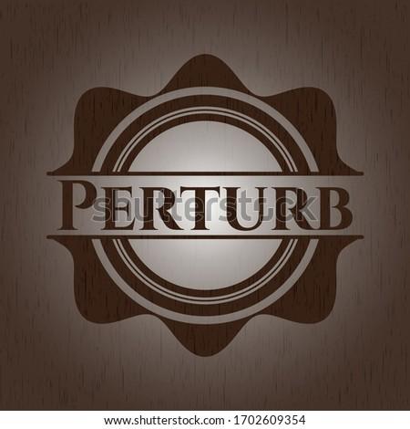 Perturb vintage wood emblem. Vector Illustration.  Photo stock ©