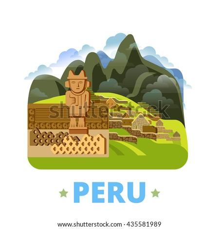 peru country design template