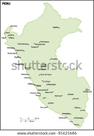 Peru Country Map