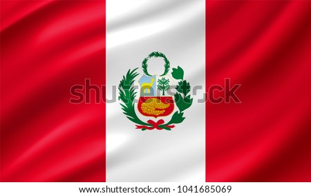 Peru Flag in Vector Illustration