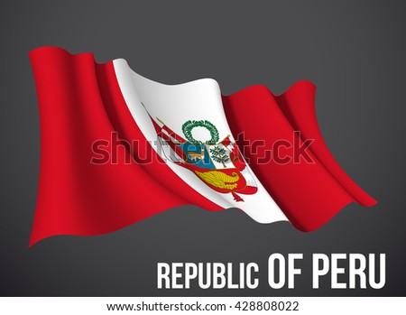peru flag vector waving in the