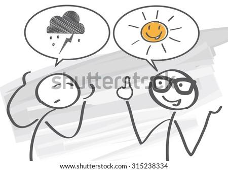 pessimist and optimist discuss