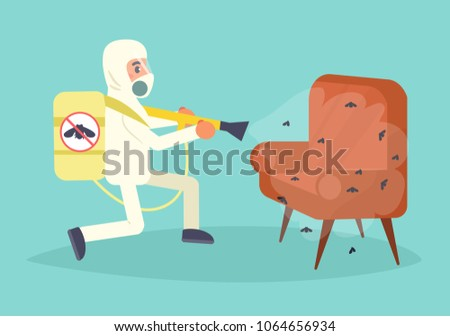 Pest control Vector. Cartoon. Isolated art