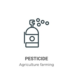 Pesticide outline vector icon. Thin line black pesticide icon, flat vector simple element illustration from editable agriculture farming and gardening concept isolated stroke on white background