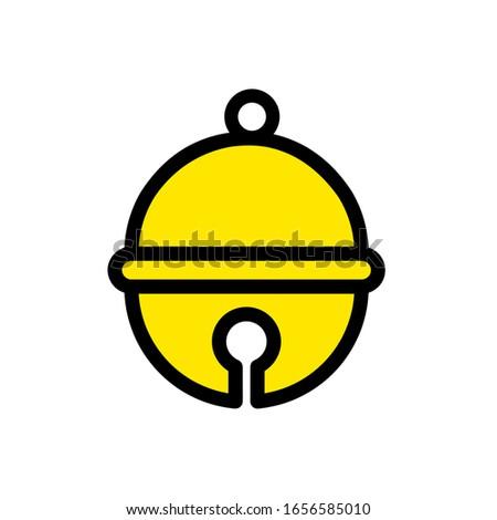 Pet bell icon,vector illustration. Flat design style. vector pet bell icon illustration isolated on White background, pet bell icon Eps10. pet bell icons graphic design vector symbols.