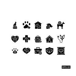 Pet care Icon Vector set. Pet clinic Icon Vector Illustration Template For Web and Mobile