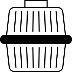 Pet Carrier Box Concept, Portable Puppy Cage Vector Glyph Icon Design, Cat and Dogs accessories Symbol on White Background, Animal Travel Bag Sign