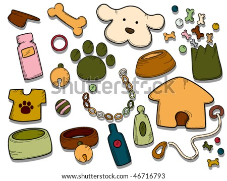 Pet Dog Icons - Vector