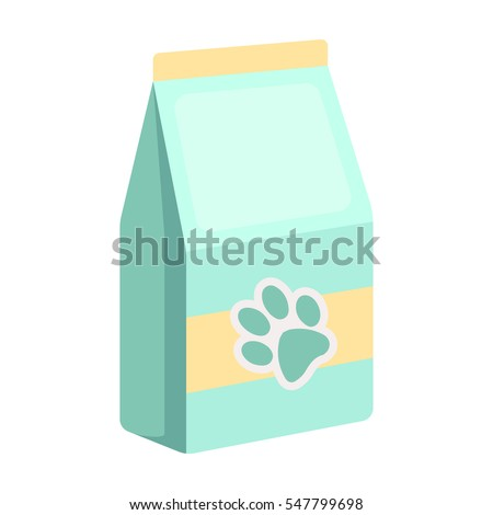 pet food icon in cartoon style