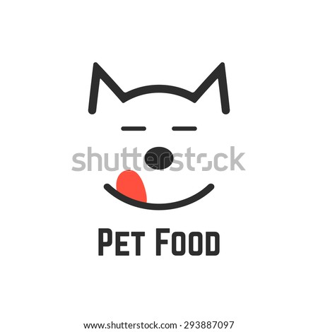 pet food logo with dog icon