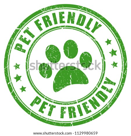 Pet friendly vector stamp isolated on white background