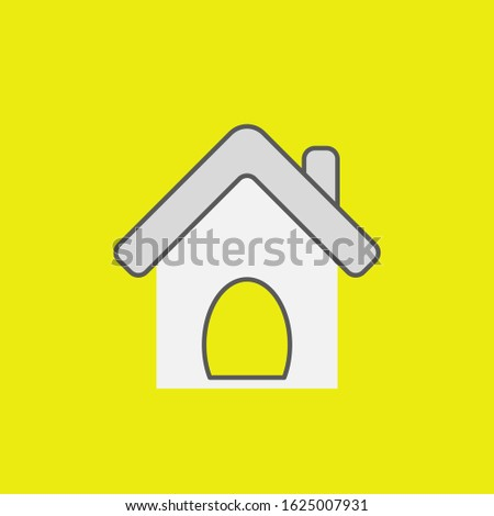 Pet house icon in vector form, home sign or symbol. Pet home, pet house vector icon illustration. Pets home thin line icons. Buildings and Pets homes line icons. Pet house and pets homes icon.