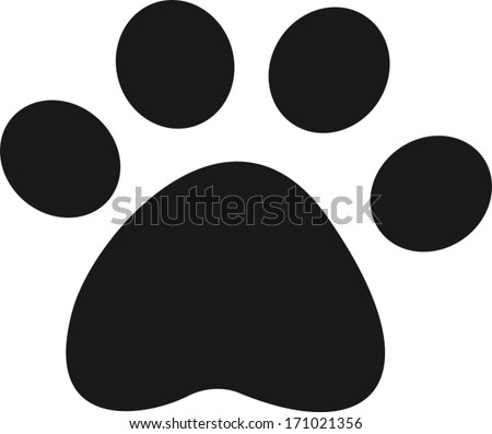 pet paw icon vector