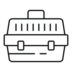 Pet plastic box icon. Outline pet plastic box vector icon for web design isolated on white background