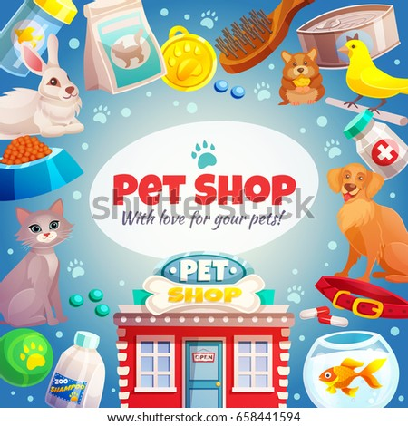 pet shop frame with logo