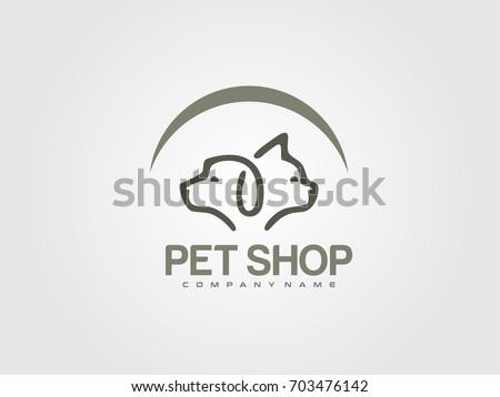 Pet Shop Icon Logo