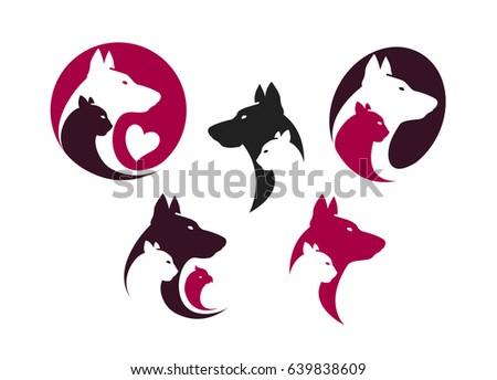 pet shop label set animals