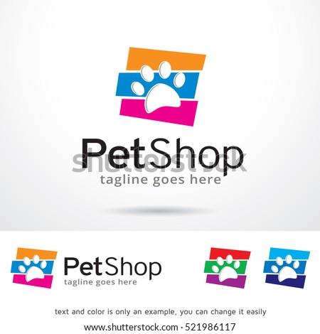 pet shop logo template design